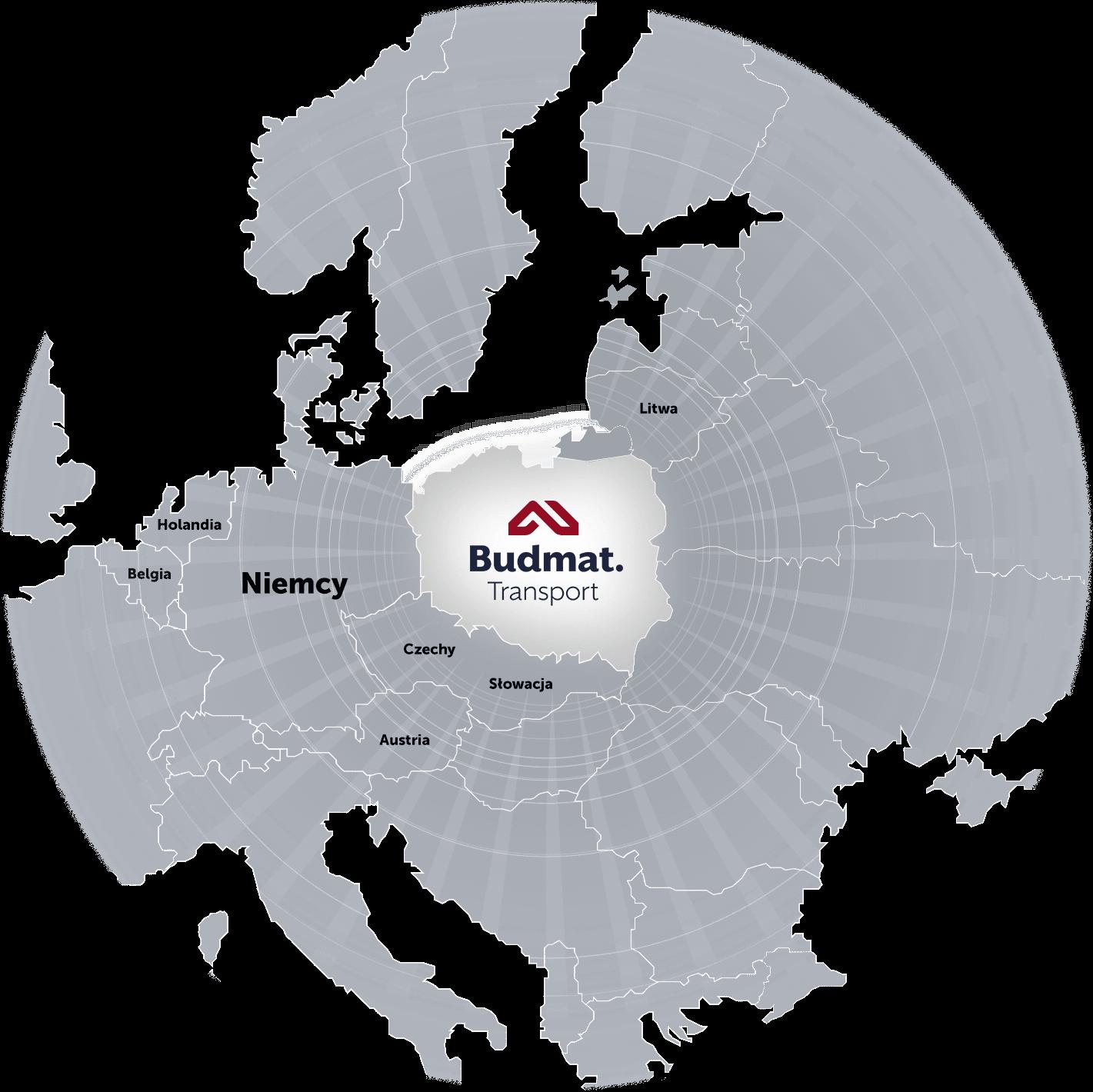 Budmat Mapa Euopy