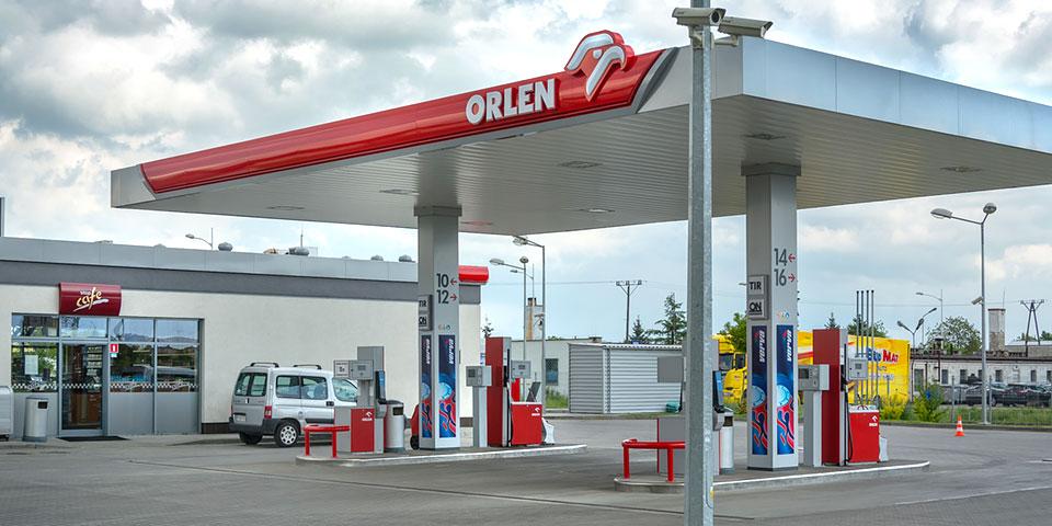 Stacja Orlen należąca do Budmat Transport